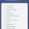 Blue and White Striped Checklist