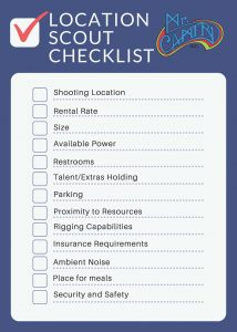 Location Scout Checklist